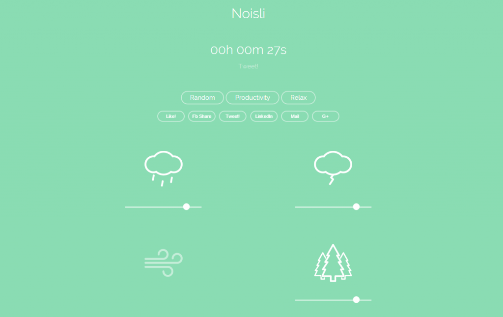 Noisli background noise and color generator for working and relaxing