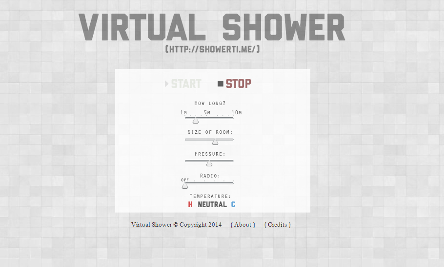 Virtual Shower showerti.me